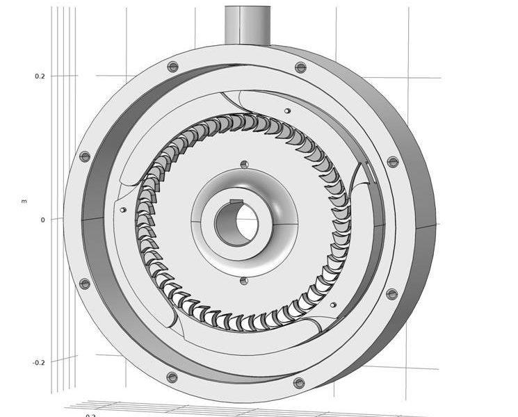 Математическое моделирование потоков пара в паровой турбине